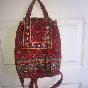Vera Bradley Backpack Provincial Red New